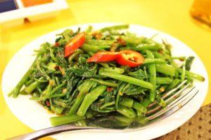 マレーシア料理 空心菜